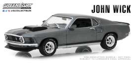 Ford  - Mustang Boss 429 *John Wick* 1969 grey - 1:43 - GreenLight - 86540 - gl86540 | The Diecast Company