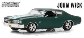Chevrolet  - Chevelle SS396 *John Wick* 1970 green/white - 1:43 - GreenLight - 86541 - gl86541 | The Diecast Company