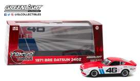 Datsun  - 240Z #46 1970 white/red - 1:43 - GreenLight - 86334 - gl86334 | The Diecast Company