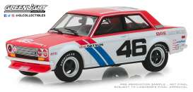 Datsun  - 510 #46 1971 white/red/blue - 1:43 - GreenLight - 86335 - gl86335 | The Diecast Company