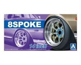 Wheels & tires Rims & tires - 1:24 - Aoshima - abk153768 | The Diecast Company