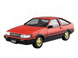 Toyota  - 1983 red/black/gold - 1:24 - Aoshima - abk154963 | The Diecast Company