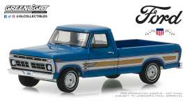 Ford  - F-100 1976 bahama blue - 1:64 - GreenLight - 29966 - gl29966 | The Diecast Company
