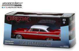 Plymouth  - Fury *Christine* 1958 red/white - 1:43 - GreenLight - 86529 - gl86529 | The Diecast Company