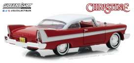 Plymouth  - Fury *Christine* 1958 red/white - 1:24 - GreenLight - 84071 - gl84071 | The Diecast Company
