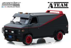 GMC  - Vandura *A Team* 1983 grey/black - 1:24 - GreenLight - 84072 - gl84072 | The Diecast Company