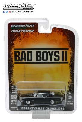 Chevrolet  - Chevelle SS *Bad Boys II* 1968 black - 1:64 - GreenLight - 44810E - gl44810E | The Diecast Company