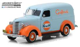Chevrolet  - Panel Truck 1939 light blue/orange - 1:24 - GreenLight - 85011 - gl85011 | The Diecast Company