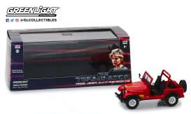 Jeep  - CJ-7 *the Terminator* 1983 red - 1:43 - GreenLight - 86533 - gl86533 | The Diecast Company