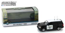 Chevrolet  - Tahoe 2012 black/white - 1:43 - GreenLight - 86098 - gl86098 | The Diecast Company