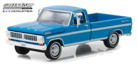 Ford  - F-100 1970 grabber blue - 1:64 - GreenLight - 29967 - gl29967 | The Diecast Company