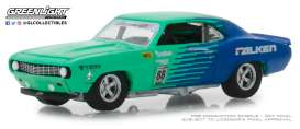 Chevrolet  - Camaro #88 1969 green/blue - 1:64 - GreenLight - 29959 - gl29959 | The Diecast Company