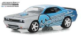Dodge  - Challenger 2009 blue/ light blue/ grey - 1:64 - GreenLight - 29962 - gl29962 | The Diecast Company