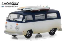 Volkswagen  - T2B Van 1973 blue/white - 1:64 - GreenLight - 29956 - gl29956 | The Diecast Company