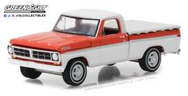 Ford  - F-100 1971 red/white - 1:64 - GreenLight - gl29957 | The Diecast Company