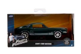 Ford  - Mustang F&F 1967 green/white - 1:32 - Jada Toys - 99519 - jada99519 | The Diecast Company