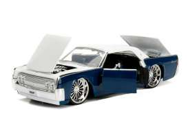 Lincoln  - Continental 1963 blue/white - 1:24 - Jada Toys - 99553b - jada99553b | The Diecast Company