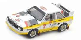 Audi  - Quattro S1 #1 winner Pikes Pea 1985 white/yellow - 1:43 - Spark - 43PP85 - spa43PP85 | The Diecast Company