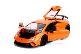 Lamborghini  - Huracan Performance 2017 orange - 1:24 - Jada Toys - 99355o - jada99355o | The Diecast Company