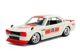 Nissan  - Skyline 2000 GT-R 1971 red/white - 1:24 - Jada Toys - jada30002rw | The Diecast Company