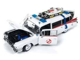 Cadillac  - Ambulance *Ghostbusters* 1959 white/red - 1:21 - Auto World - SS118 - AWSS118 | The Diecast Company