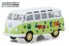 Volkswagen  - Samba Bus 1964 green/white - 1:64 - GreenLight - gl29920C | The Diecast Company