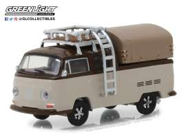 Volkswagen  - T2 Double Cab pick-up 1969 light brown/dark brown - 1:64 - GreenLight - 29920E - gl29920E | The Diecast Company