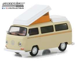Volkswagen  - T2 Campmobile *Westfalia* 1972 cream - 1:64 - GreenLight - 29920F - gl29920F | The Diecast Company