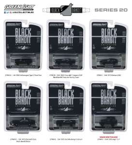 Assortment/ Mix  - black - 1:64 - GreenLight - 27960 - gl27960 | The Diecast Company