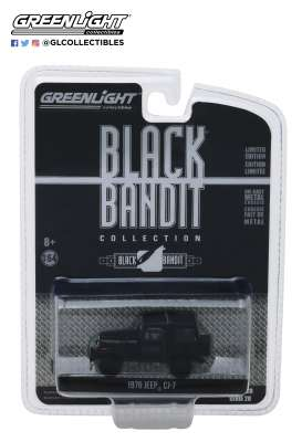 Jeep  - CJ-7 1976 black - 1:64 - GreenLight - 27960F - gl27960F | The Diecast Company