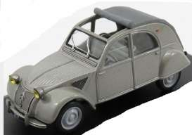 Citroen  - 2CV open roof 1952 grey - 1:43 - Magazine Models - AT2cv1952 - magAT2cv1952 | The Diecast Company