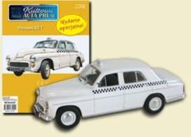 Warszawa  - 203 Taxi white - 1:43 - Magazine Models - PCwar203taxi - magPCwar203taxi | The Diecast Company
