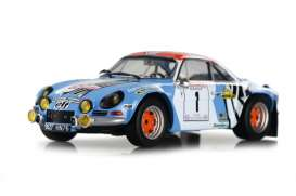 Renault  - Alpine A110 1973 light blue/white - 1:18 - Solido - 1800803 - soli1800803 | The Diecast Company