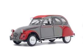 Citroen  - 2CV6 Dolly 1985 grey/red - 1:18 - Solido - 1850022 - soli1850022 | The Diecast Company