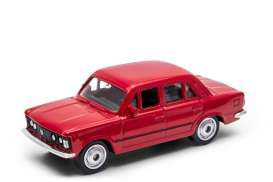 Fiat  - 125P red - 1:60 - Welly - welly52380r | The Diecast Company