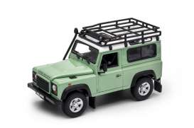 Land Rover  - Defender off road green/white - 1:24 - Welly - welly22498SPgnw | The Diecast Company