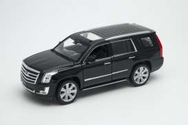 Cadillac  - Escalade 2017 black - 1:24 - Welly - welly24084bk | The Diecast Company