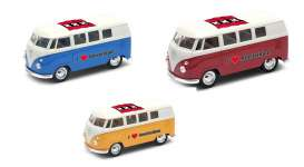 Volkswagen  - T1 Bus 1962 various - 1:34 - Welly - 49764AM - welly49764AM | The Diecast Company