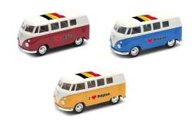 Volkswagen  - T1 Bus 1962 various - 1:34 - Welly - welly49764BEL | The Diecast Company