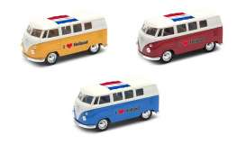 Volkswagen  - T1 Bus 1962 various - 1:34 - Welly - welly49764HOL | The Diecast Company