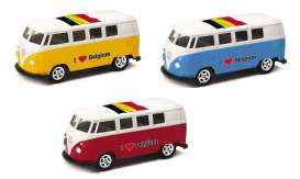 Volkswagen  - T1 Bus 1962 various - 1:64 - Welly - 52221BEL - welly52221BEL | The Diecast Company