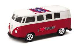 Volkswagen  - T1 Bus 1962 red/white - 1:64 - Welly - welly52221BR | The Diecast Company