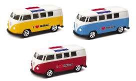 Volkswagen  - T1 Bus 1962 various - 1:64 - Welly - welly52221HOL | The Diecast Company