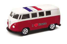 Volkswagen  - T1 Bus 1962 red/white - 1:64 - Welly - welly52221FR | The Diecast Company