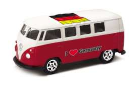 Volkswagen  - T1 Bus 1962 red/white - 1:64 - Welly - welly52221GE | The Diecast Company