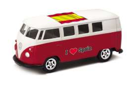 Volkswagen  - T1 Bus 1962 red/white - 1:64 - Welly - welly52221SP | The Diecast Company