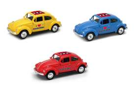 Volkswagen  - Beetle 1963 various - 1:64 - Welly - welly52222AM | The Diecast Company