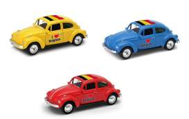 Volkswagen  - Beetle 1963 various - 1:64 - Welly - welly52222BEL | The Diecast Company