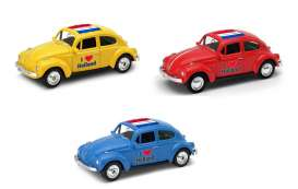 Volkswagen  - Beetle 1963 various - 1:64 - Welly - welly52222HOL | The Diecast Company