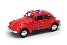 Volkswagen  - Beetle 1963 red/white - 1:64 - Welly - welly52222BR | The Diecast Company